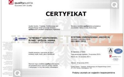 Certyfikat Quality Austria